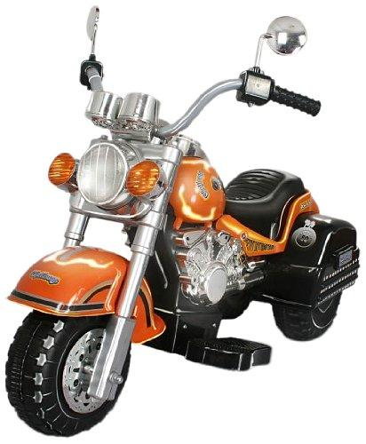 Harley Style Chopper Style Motorcycle - Orange