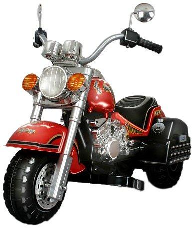 Harley Style Chopper Style Motorcycle - Red