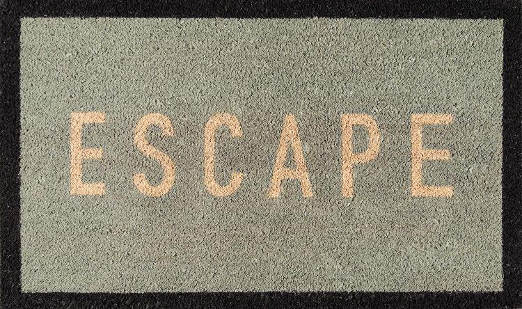 Novogratz Aloha Collection Escape Doormat, Blue, 1'6