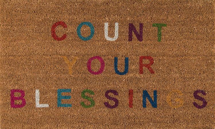 Novogratz Aloha Collection Count Your Blessings Doormat, Multi, 1'6