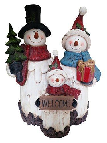 11 Inch Snowman Family Statuary