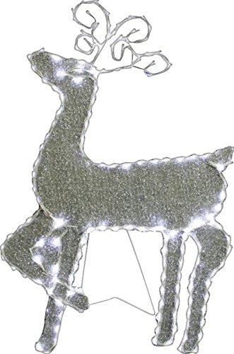 Standing Reindeer W/144Pcs Led Lights & 8 Functions (Plug In