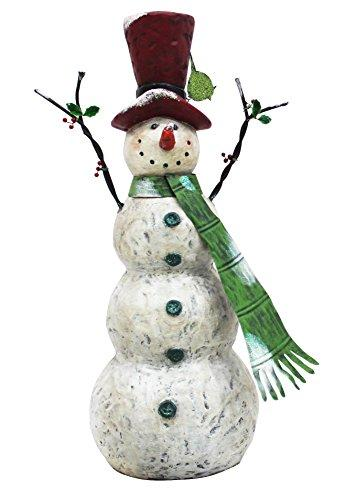 30 Inch Chistmas Tall Snowman With Green Scarf