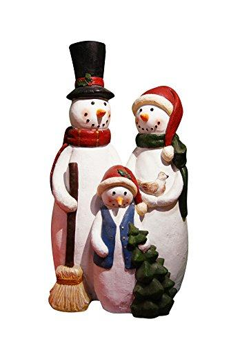 12 Inch Snowman Family Statue