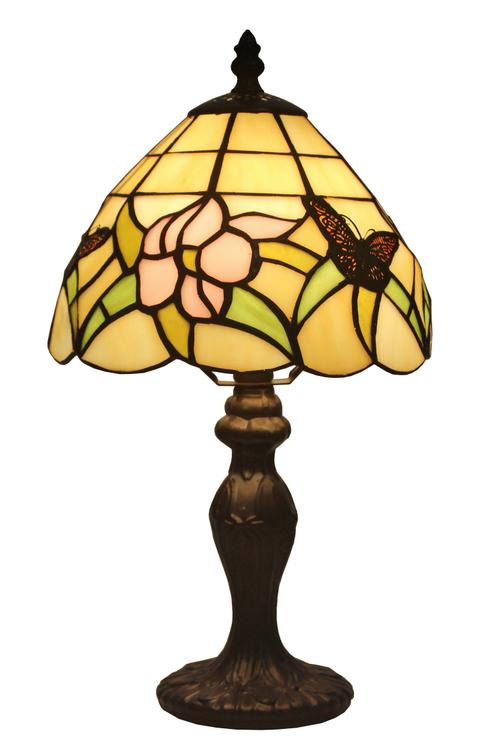 Amora Lighting Tiffany Style Floral Mini Table Lamp, 15-Inches