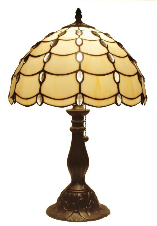 Amora Lighting Tiffany Style Cascade Table Lamp, 19-Inches