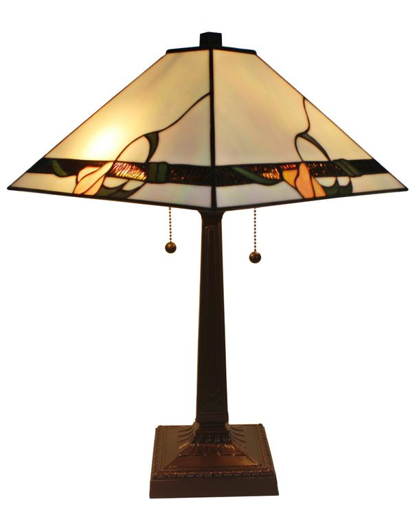 Amora Lighting Tiffany Style Mission Table Lamp, 23-Inches