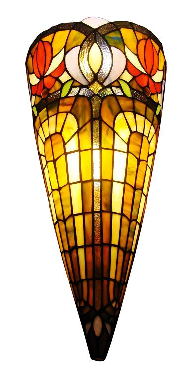 Amora Lighting Tiffany Style 2-Light Wall Crowned Sconce