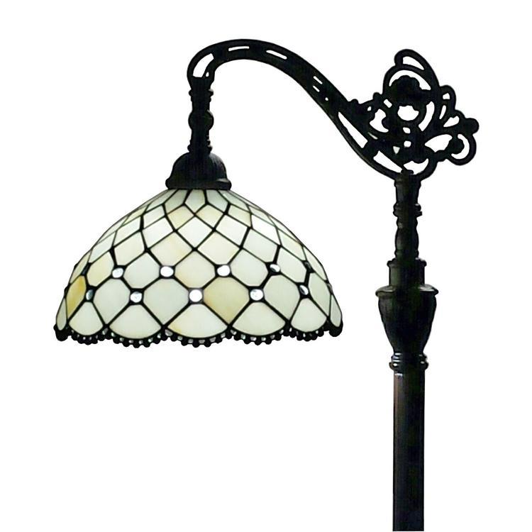 Amora Lighting Tiffany Style Jewel Reading Lamp, 62-Inches