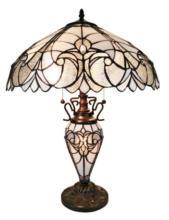 Amora Lighting Tiffany Style 2-Light Floral Table Lamp, 23-Inches Tall