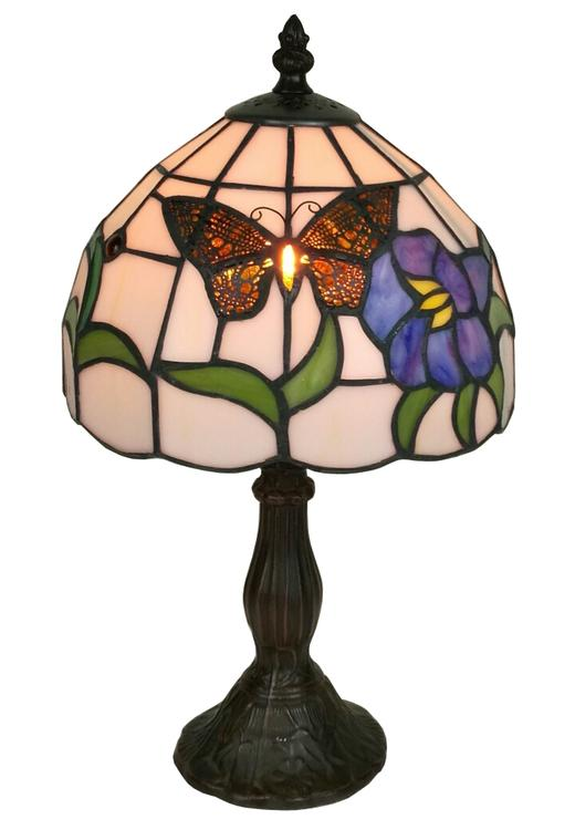 Amora Lighting Tiffany Style Butterfly Table Lamp, 15-Inches Tall