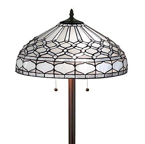 Amora Lighting Tiffany Style Royal Floor Lamp, 62-Inches Tall
