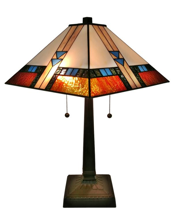 Amora Lighting AM243TL14 Tiffany-style Mission Table Lamp 23 In Tall