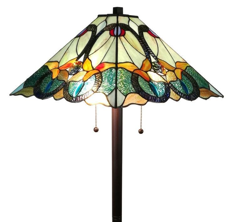 Amora Lighting AM255FL17 Tiffany Style Mission Floor Lamp 63 Inches High