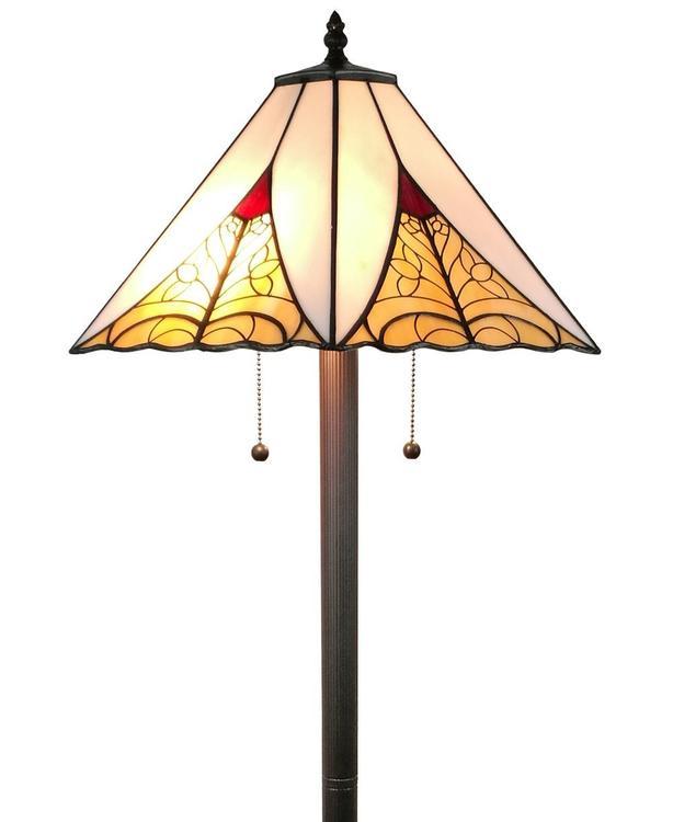 Amora Lighting AM259FL18 Tiffany Style Mission Floor Lamp 63 inches High
