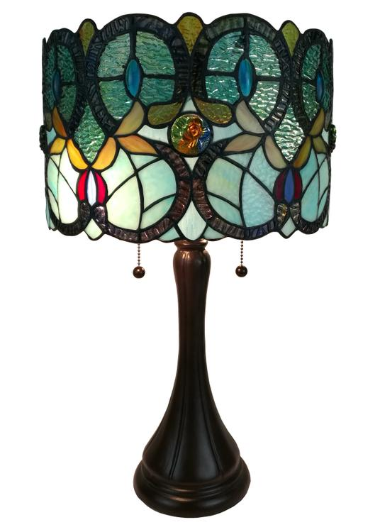 Amora Lighting AM286TL12 Tiffany Style Floral Table Lamp