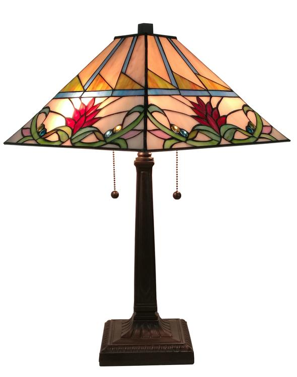 Amora Lighting AM311TL14 Tiffany Style Multi-Color Mission Table Lamp 22 Inches Tall