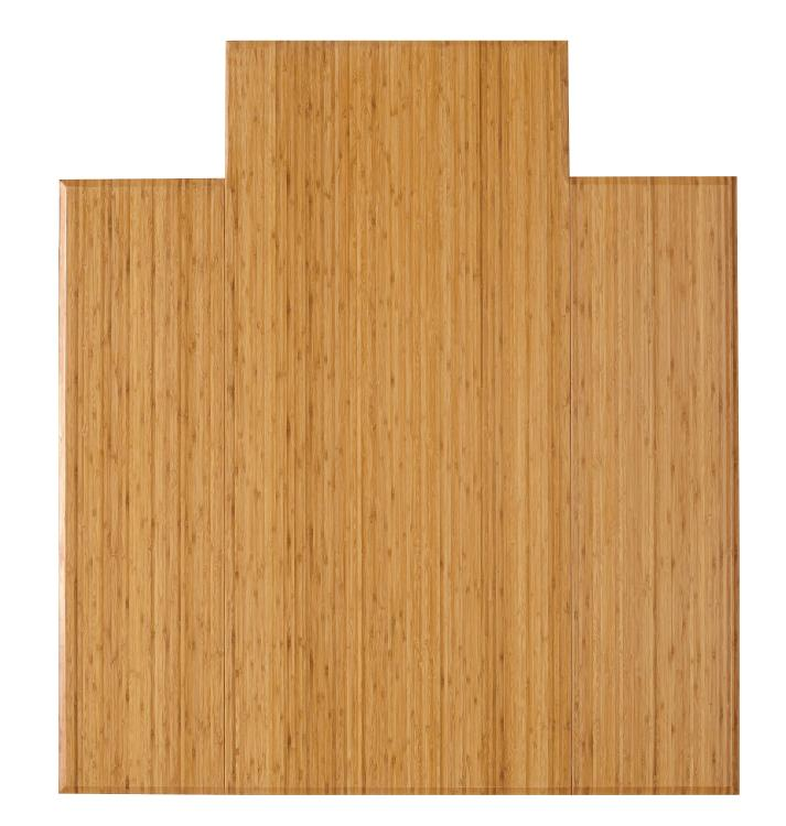 Anji Mountain Bamboo Tri-Fold Plush Chairmat, No Lip