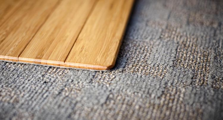 Bamboo Roll-Up Chairmat, With Lip