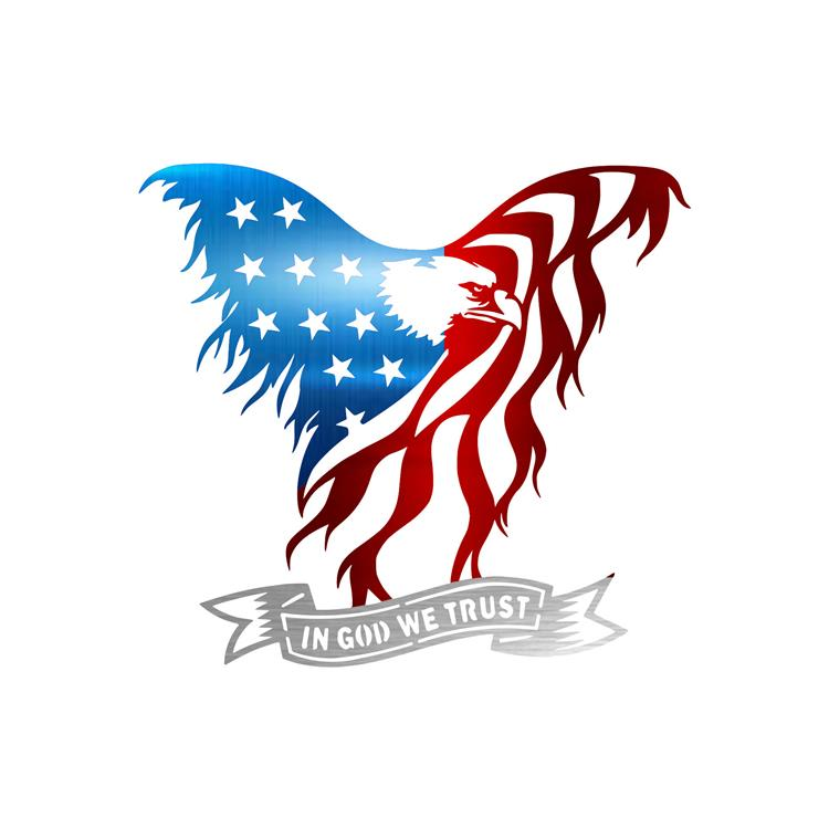 Precision Metal Art American Eagle Steel Laser Cut Wall Art with