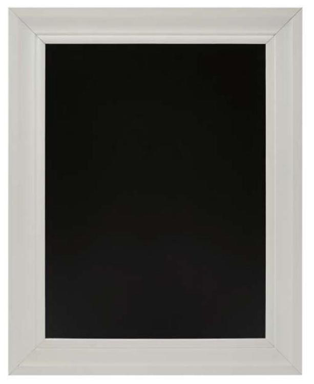 24 Inchesx30 Inches Chalkboard with White Frame