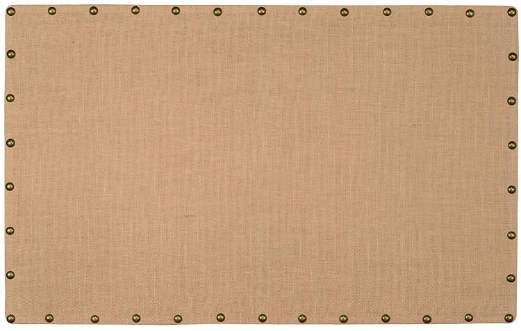 Linon Burlap Nailhead Corkboard
