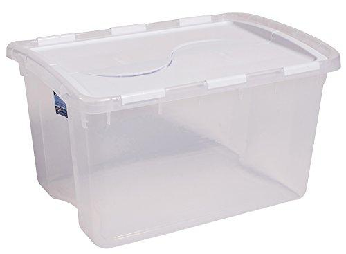 48 Quart Hinged Lid Storage Box; #19148006 (6/bx) [Item # ANG7501]