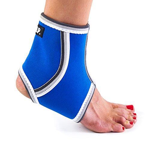 Breathable Lightweight Neoprene Black Ankle Blue / Ankle Compression Sleeve. Blue Medium