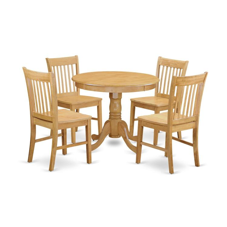 East West Furniture 3-Pc Small Kitchen Table Set