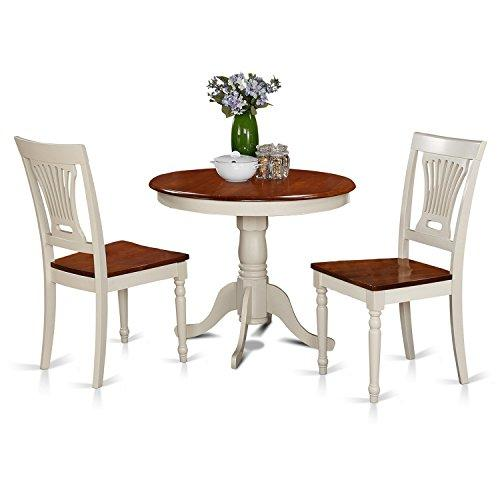 Kitchen Nook Dining Set-Round Table Plus 2 Dining Chairs