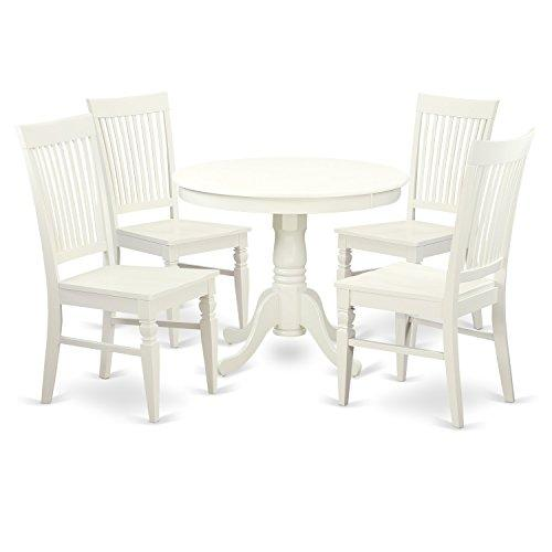 Dinette Set With A Table And Wood Dinette Chairs