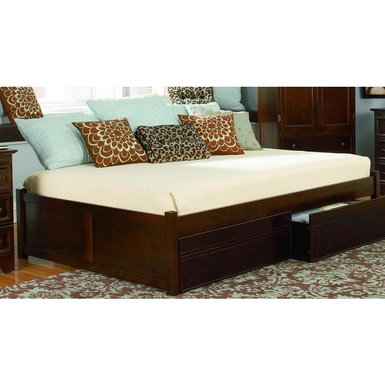 Concord Platform Bed w/ Flat Panel Footboard