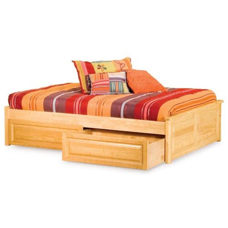 Concord Platform Bed w/ Raised Panel Footboard