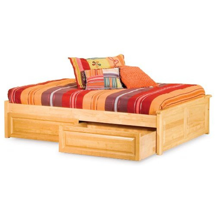 Concord Platform Bed w/ Raised Panel Footboard