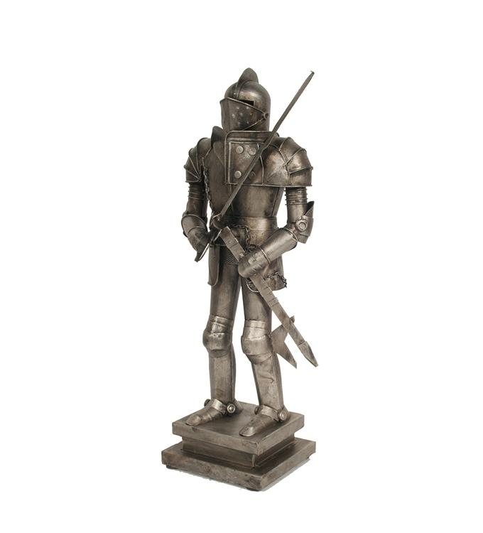 Old Modern Handicrafts Metal Decorative Handmade Tin Medieval Armor Suit