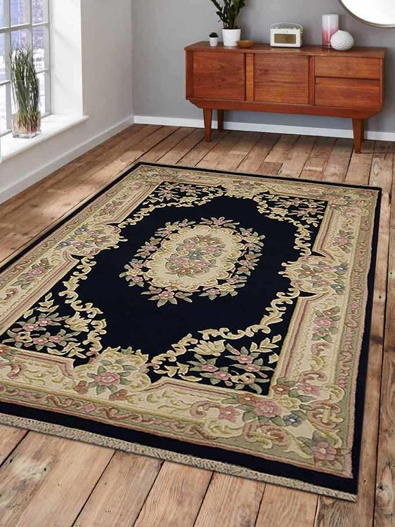 Rugsotic Carpets Hand Knotted Aras Woolen 4' x 6' Vintage Area Rug Rose AR0101