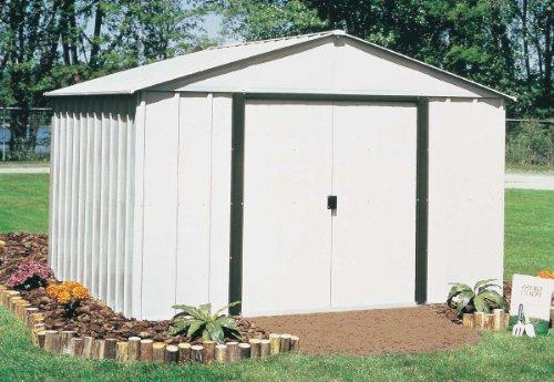 Arrow Sheds Arlington, 10x12, Electro Galvanized Steel, Coffee / Eggshell, High Gable, 62