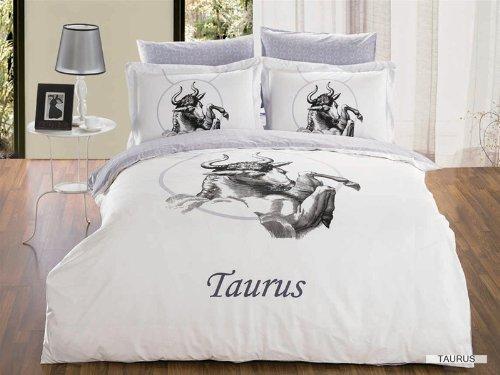 Arya Full/Queen Size Duvet Cover Sheets Set, Taurus Zodiac