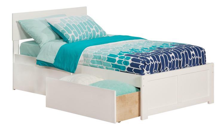 Orlando Flat Panel Foot Board w/ 2 Urban Bed Drawers