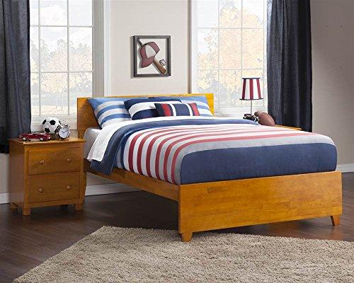 Orlando Full Bed with Matching Foot Board in Caramel Latte