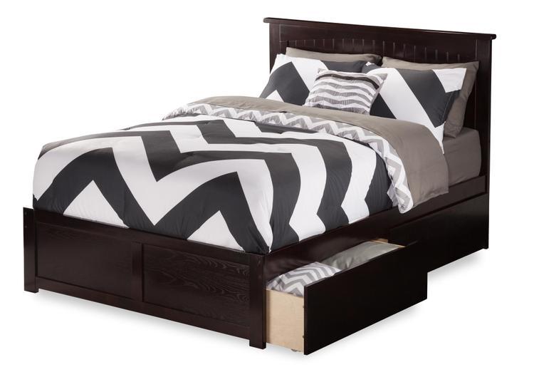 Nantucket Flat Panel Foot Board w/ 2 Urban Bed Drawers