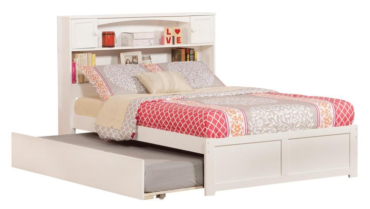 Newport Full Bed with Flat Panel Foot Board and Urban Trundle