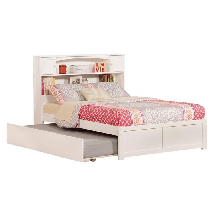 Atlantic Furniture Newport Full Bed with Flat Panel Foot Board and Urban Trundle
