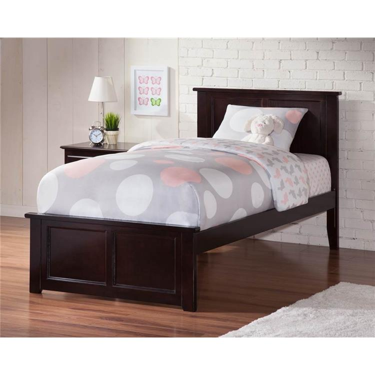 Madison Twin XL Bed with Matching Foot Board in Espresso