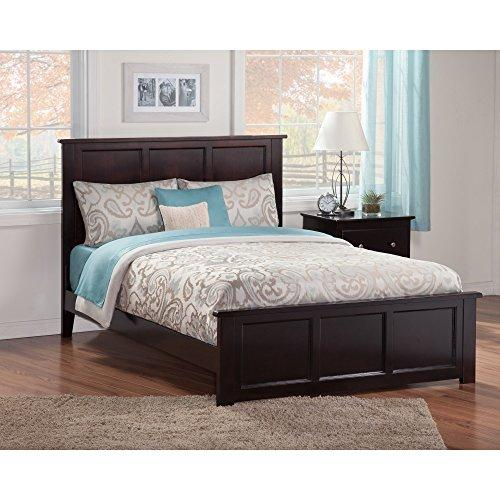 Atlantic Furniture Madison Queen Traditional Bed with Matching Foot Board in Walnut