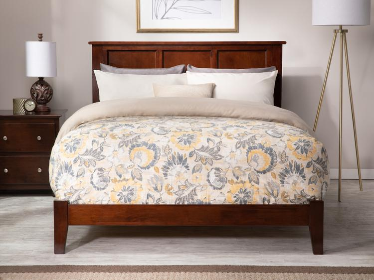 Atlantic Furniture Madison King Traditional Bed in Walnut