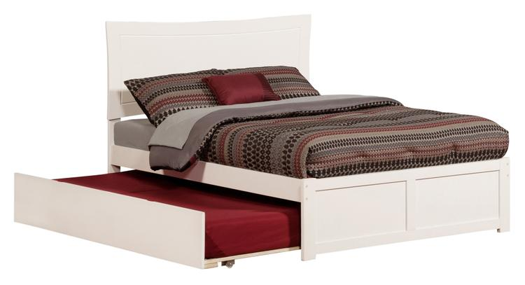 Metro Bed with Flat Panel Foot Board and Urban Trundle