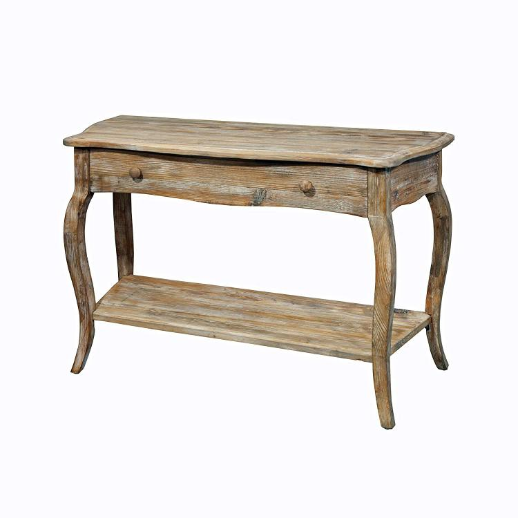 Bolton Furniture Rustic - Reclaimed Media/Console Table, Driftwood [Item # ARSA1425]