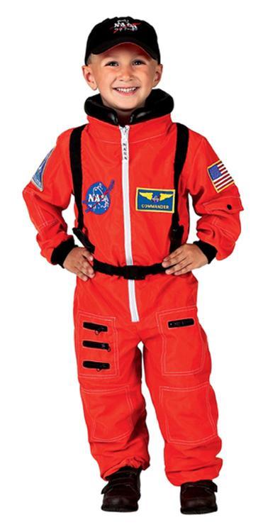 Aeromax Jr. Astronaut Suit w/Embroidered Cap, size 2/3 (orange)