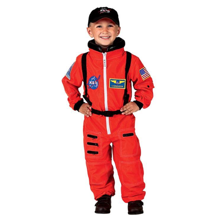 Aeromax Jr. Astronaut Suit w/Embroidered Cap, size 4/6 (orange)